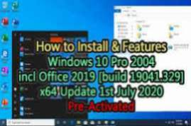 Windows 10 X64 Pro VL incl Office 2019 fr-FR JUNE 2020 {Gen2}